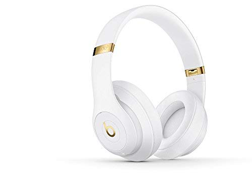 Beats by Dr. Dre Studio 3 Wireless Over-Ear Headphones with Built-in Mic - White (Renewed) (Beats Studio Wireless Over Ear Headphone Gold)