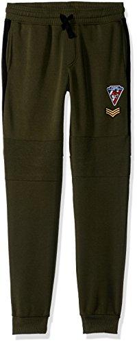 Southpole Boys' Big Active Basic Jogger Fleece Pants, Olive Patch, X-Large by Southpole