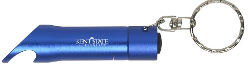 Kent State University - LED Flashlight Bottle Opener Keychain - Blue (Kent Golden Light)