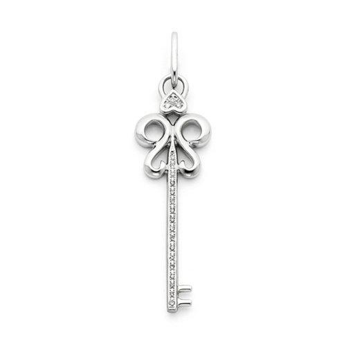 Icecarats Créatrice De Bijoux Or Blanc 14K Touche Pendentif Diamant