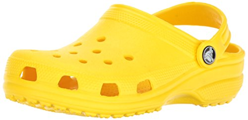 Crocs Kids' Classic Clog, Lemon, 11 M US Little Kids -