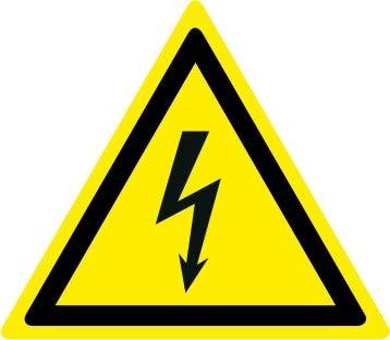 100x100mm Etichetta adesiva pittogramma segnale di pericoloPericolo elettricit/à PR012-10 per confezione