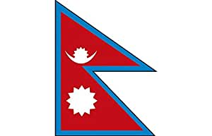 Países bandera–Nepal–Talla aprox. 40x 30cm–77116–Bandera con madera Stock, Stock Países bandera