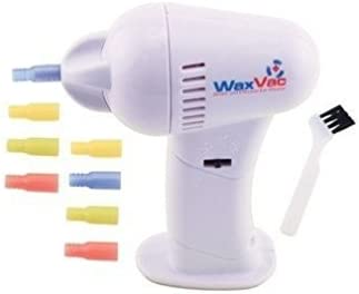 WAX VAC 2x1 Aspirador limpia oídos - con 16 fundas de silicona de ...