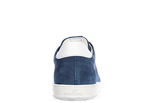 Hogan chaussures baskets sneakers homme en daim h168 low top h forata blu