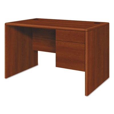 10700 Series Single 3/4 Right Pedestal Desk, 48w x 30d x 29 1/2h, Cognac, Sold as 1 Each by Generic