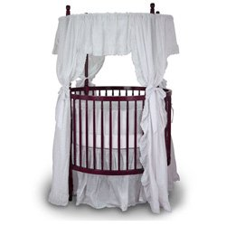 Angel Line Traditional Round Crib, Cherry Angel Line Nursery Crib