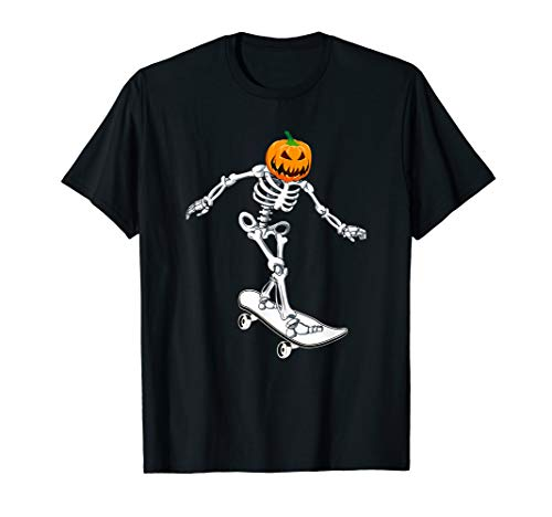 Skateboarder Girl Costume For Halloween (Skeleton Skateboarding Halloween Pumpkin Skateboarder )