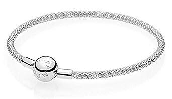 9df570e70 Amazon.com: Pandora Moments Sterling Silver Mesh Bracelet 59654319: Watches