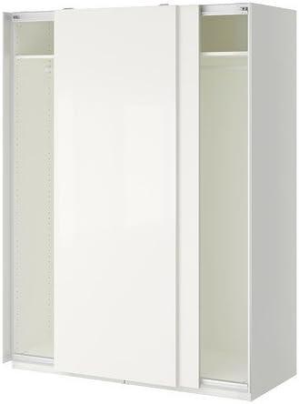 Istruzioni Montaggio Ikea Pax Ante Scorrevoli.Ikea Armadio Bianco Hasvik Bianco 14382 81723 414 Amazon It