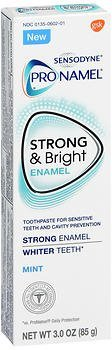 Sensodyne ProNamel Strong & Bright Enamel Toothpaste for Sensitive Teeth Mint – 3 oz, Pack of 6