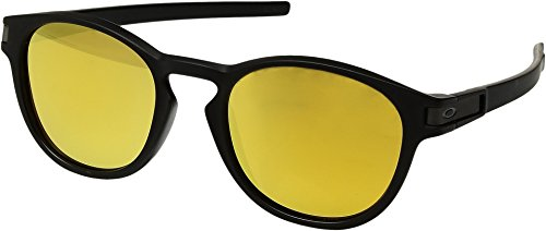Oakley  Men's Latch (A) Matte Black With 24k Iridium One - Frame Yellow Sunglasses Oakley
