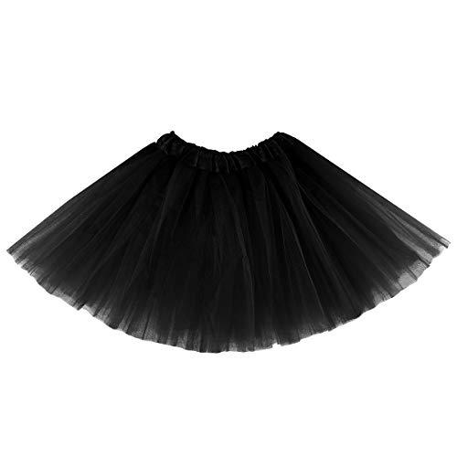 belababy Girl Tutu Skirt, 3 Layered Fluffy Tutus, Ballet Dance Dress Up for 2-8 Years Children Black