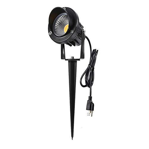 ProGreen Outdoor LED Landscape Lights, 5W LED Decorative Spotlight Lamp Ground Spike, 3000k Warm White LED Wall Lights, Waterproof IP65 LED Garden Lighting (1 Pack, 10W 6000K)