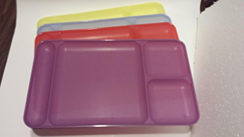 Tupperware Divided Dining Trays Set of 4 - Produced in variety of colors