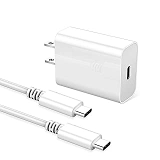 """Huntkey USB C Charger, 18W 9V/2A 5V/3A Power Adapter, PD3.0 Fast Type C Wall Chargers for Samsung Note10/S10/A8s/S/Note 9/S9/S9+/Note 8/S8/S8+, Pixel 3, iPad Pro 11"""" /12.9"""" (3 Gen)etc, 3.3ft C-C Cable"""