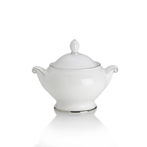 Mikasa Cameo Platinum Covered Sugar Bowl, 5.25-Inch