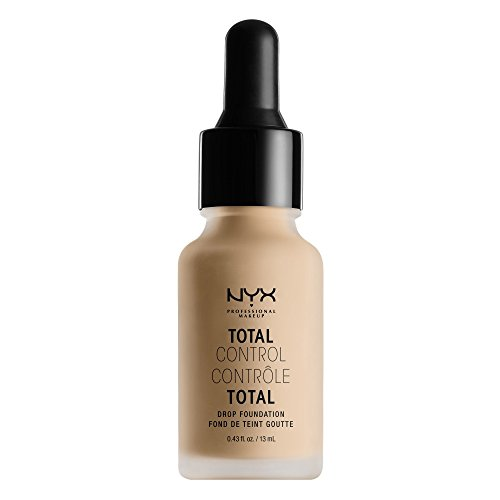 NYX PROFESSIONAL MAKEUP Total Control Drop Foundation, Nude, 0.43 Fluid Ounce