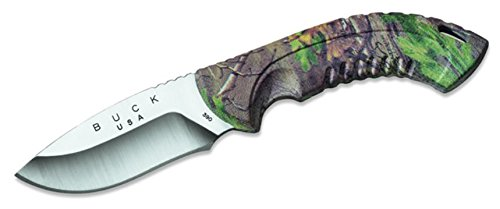 New Buck Omni Hunter, 10Pt, Realtree Xtra Green Camo Fixed Blade Knife + Includes a Free Zombie Hunter Survival Knife