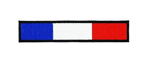 Patch ecusson thermocollant backpack drapeau france francais biker brassard noir
