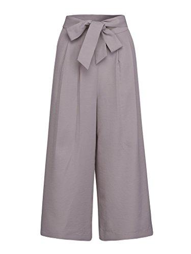 Wide Leg High Waist Pants - 6