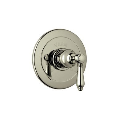 Rohl A6400LCSTN R9453386Tcb for Pressure Balance with Integrated Volume Control with Crystal Lever and without Diverter, Satin Nickel