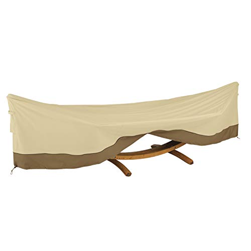 Classic Accessories 55-917-011501-00 Veranda Deluxe Framed Hammock and Stand Cover, Pebble/Bark/Earth