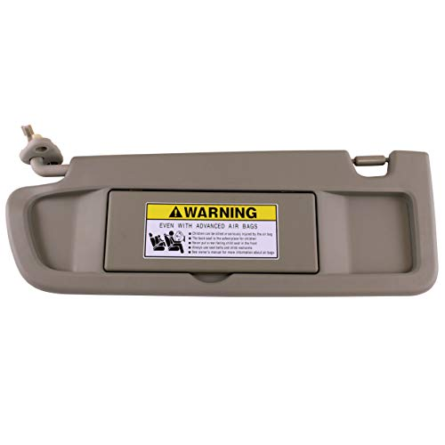 IAMAUTO 52812 Driver Left Warm Gray Sun Visor for 2009 2010 2011 Honda Civic ()