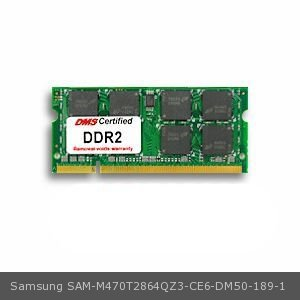 (DMS Compatible/Replacement for Samsung M470T2864QZ3-CE6 Q35 LXD T2300e 1GB Samsung Original Memory 200 Pin DDR2-667 PC2-5300 128x64 CL5 1.8V SODIMM - DMS)