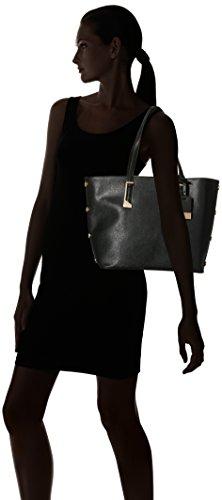 Miss Selfridge Stud - Borse Tote Donna, Black, 28x14x44 cm (W x H L)