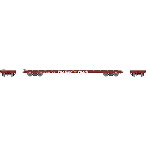 (Athearn HO RTR 60' Flat, Trailer Train/Brown #97014, ATH92691)