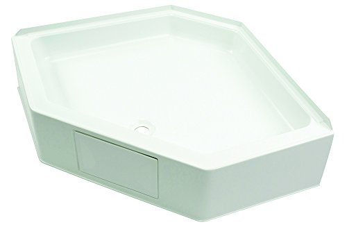 Lippert Components 209797 Better Bath White 34'' x 34'' Neo Angle RV Shower Pan by Lippert Components