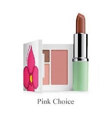 NEW Clinique Skin Care Makeup 7 Pc Gift Set Travel Size Pinks Spring 2015 Value $70