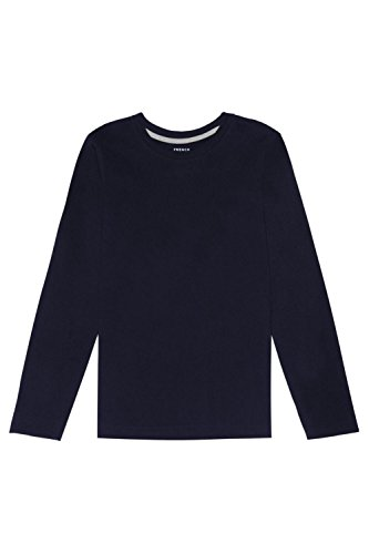 Boys Long Sleeve Crewneck T-shirt (French Toast Long Sleeve Crew Neck Tee Shirt Boys Navy XL (14/16))