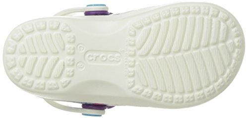 crocs Mädchen Karinnvltyclgk Clogs Weiß (Oyster/Amethyst)