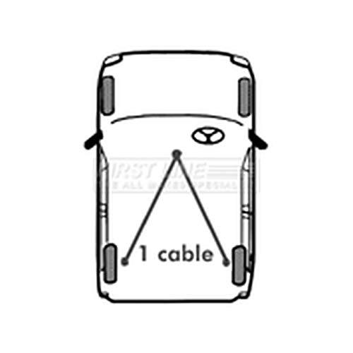 Firstline Parking Brake Cables Part Number: FKB1017: