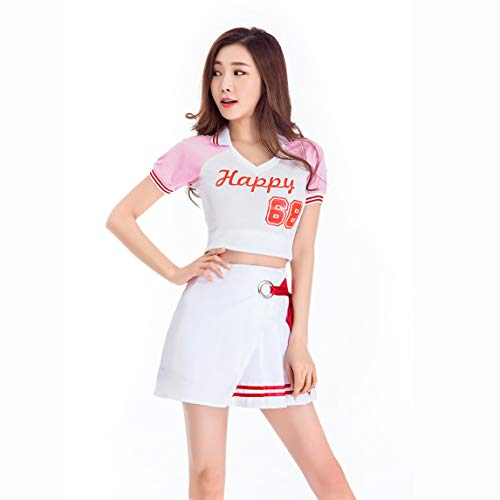 SUNLEE Women Girls Musical Uniform Glee Club Fancy Dress Cheerleader Outfit]()
