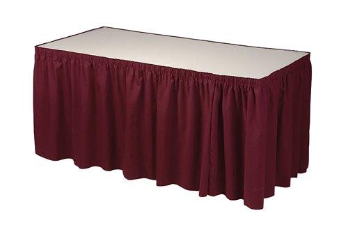 13' Towel Bar (Phoenix 13-Feet Table Skirting, Shirred, Burgundy)