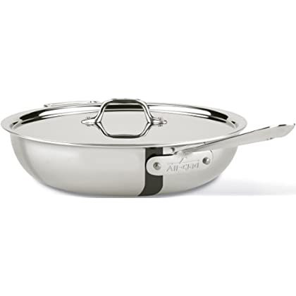 Image of All-Clad 440465 D3 Stainless Steel All-in-One Pan Cookware, 4-Quart, Silver Home and Kitchen