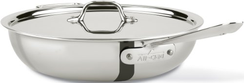(All-Clad 440465 D3 Stainless Steel All-in-One Pan Cookware, 4-Quart, Silver)
