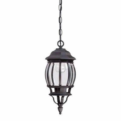 Hampton Bay 1-Light Black Outdoor Hanging Lantern HB7030-05 891855 - New