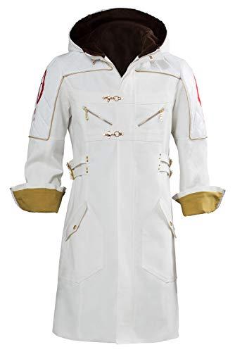 Adult Nero DLC EX Color Coat Cosplay Costume DMC White Hoodie Jacket,XXXLarge]()