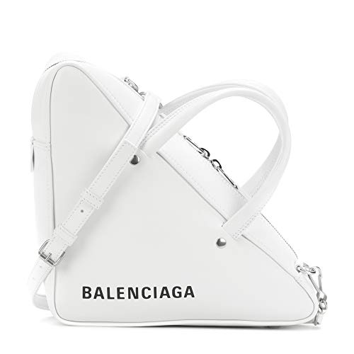 Balenciaga Triangle Duffle Leather Tote Top-Handle Bags (White)