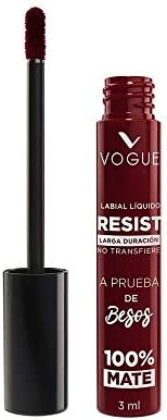 Vogue Labial Liquido Larga Duracion Resist Vogue, Tono Atrevida