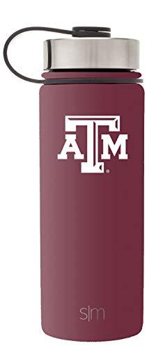 Water Aggies Texas A&m (Simple Modern 18oz Summit Water Bottle - Texas A&M Aggies Vacuum Insulated 18/8 Stainless Steel Travel Mug - Texas A&M)