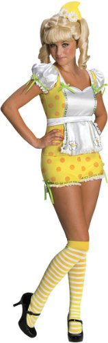 Lemon Meringue Costumes (Secret Wishes Strawberry Shortcake Lemon Meringue and Accessories, Yellow/White, Medium)