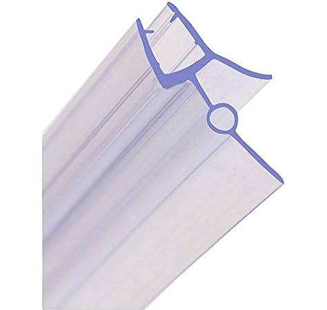 Junta para mampara de ducha de 6 a 8 mm, de HNNHOME, para cristal recto o curvado con separación de hasta 28 mm: Amazon.es: Hogar