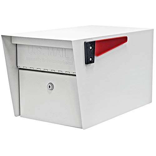 - Mail Boss 7507 Mail Manager Curbside Locking Security Mailbox, White (Renewed)