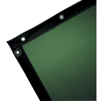 See-Thru Welding Curtains - wilson 6'h x 6'w green14 mil see-thru curtain (Thru Curtains Welding See)