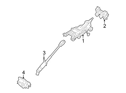 Ford 8G1Z-3C529-A Steering Column